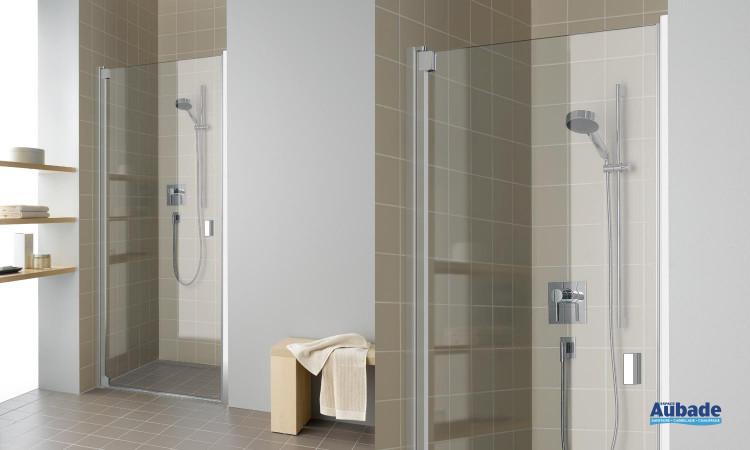 Paroi de douche avec porte pivotante intégrale Rothalux RAYA - RA 1WR/L