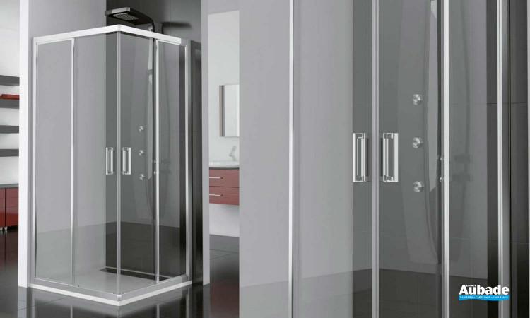 Paroi de douche avec portes coulissantes Aupac de SanSwiss
