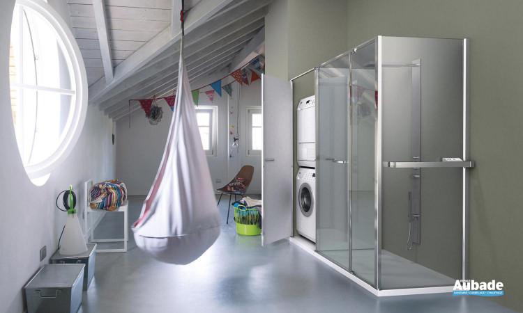 paroi de douche et rangement vismara twin espace aubade. Black Bedroom Furniture Sets. Home Design Ideas