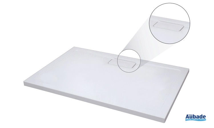 Receveur Roterra en 3 versions : rectangle, carré et quart de rond