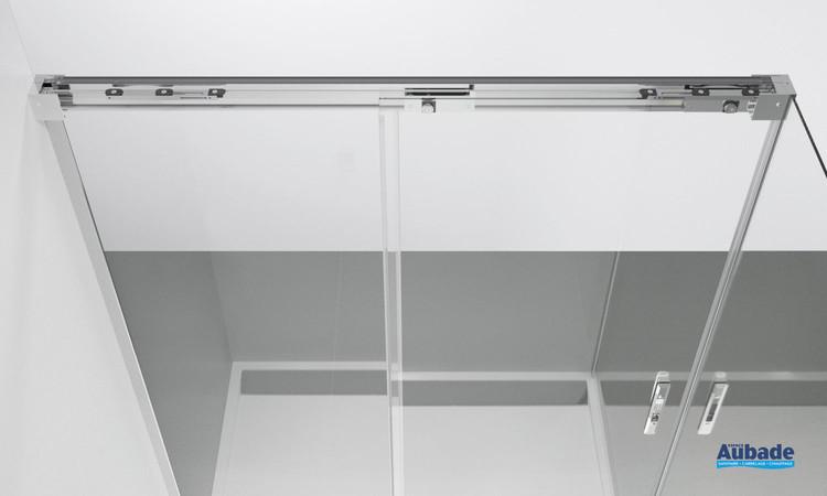 Rail avec système Soft Open/Close pour paroi coulissante Ophalys de SanSwiss