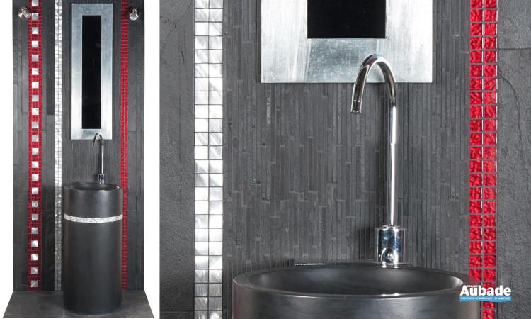 Carrelage ardoise & mosaïque de salle de bains Mosa | Espace Aubade