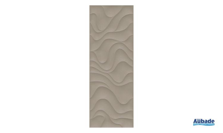 Carrelage Faïence Océane avec motifs vagues coloris marron