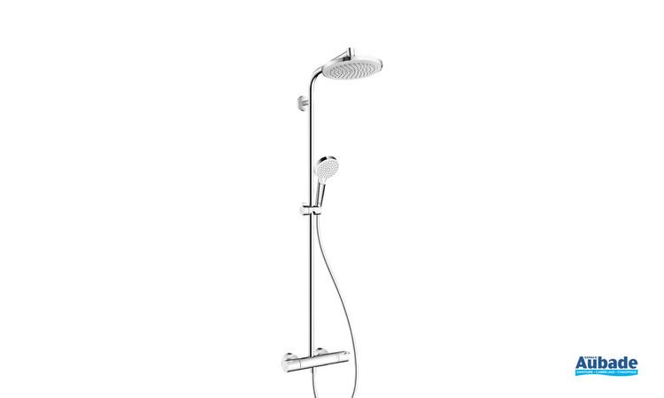 Colonne de douche 220 avec mitigeur thermostatique Chrome Hansgrohe