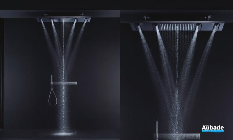 Douche de tête ShowerHeaven 4 jets avec éclairage Chrome Axor