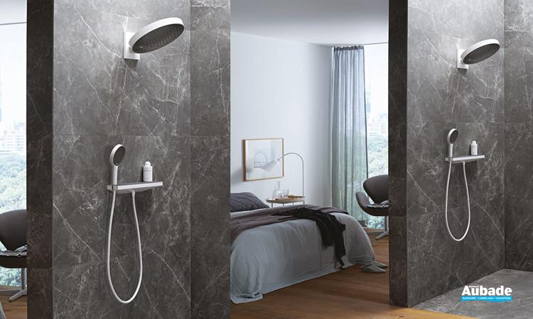 Colonne de douche encastrée Rainfinity Blanc/noir Hansgrohe