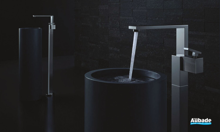 Collection de mitigeurs de lavabo Edge - Chromé noir poli