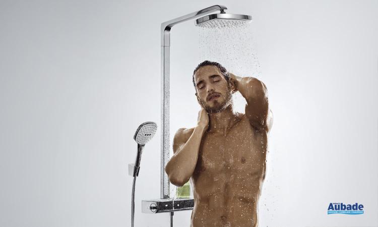 Colonne de douche Showerpipe Raindance Select E 300 de Hansgrohe au design original