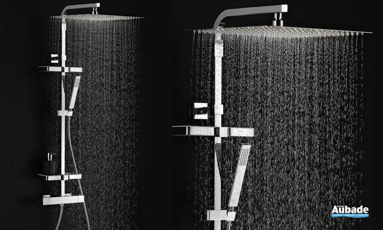 Dôme de pluie Touareg de Valentin avec douchette à main et mitigeur thermostatique