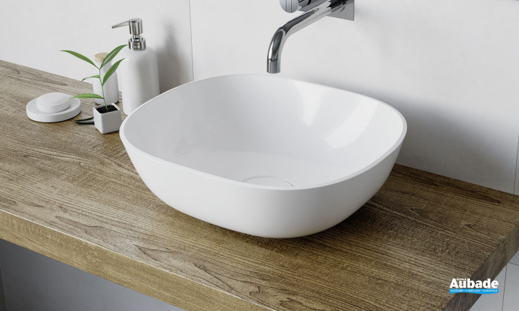 Vasque à poser Marine coloris blanc brillant par Aubade Création