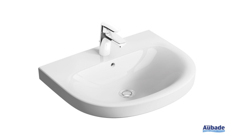 Lavabo Rond avec trop-plein Clivia finition céramique Blanc par Vigour
