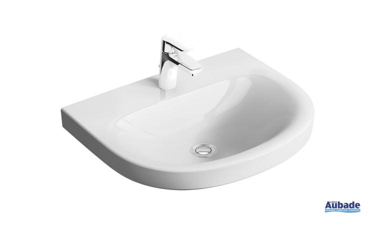 Lavabo Rond sans trop-plein Clivia finition céramique Blanc par Vigour