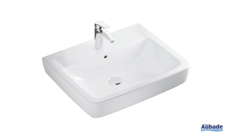 Lavabo Square en céramique blanc Clivia par Vigour