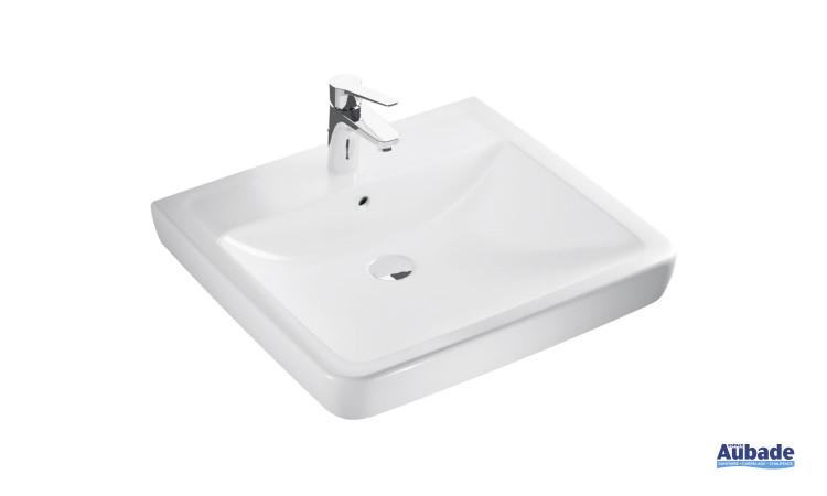 Lavabo Square Plus finition céramique blanc Clivia par Vigour