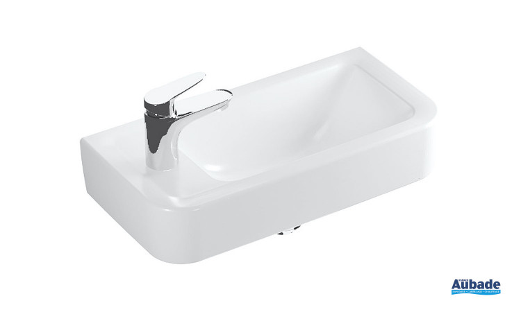 Lave-mains en céramique blanc Clivia version gauche de Vigour