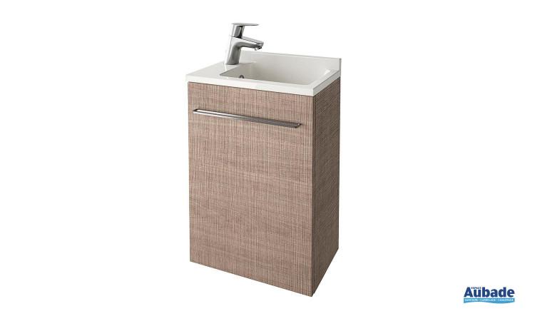 Meuble lave-mains imitation bois Verso d'Ambiance Bain