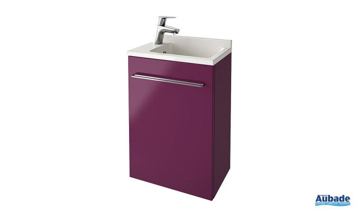 Meuble lave-mains violet Verso d'Ambiance Bain