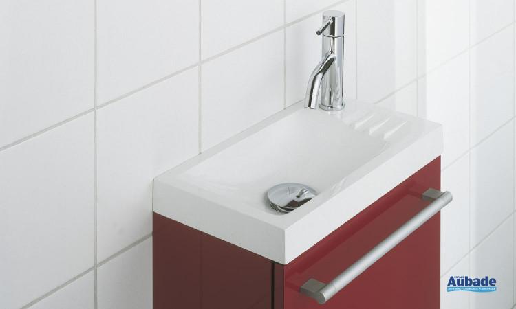 Meuble sous lave-mains rouge, blanc ou wengé, Sucre de Decotec