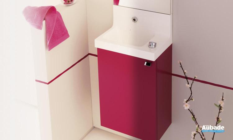 Lave-mains coloris rose fushia satiné Pop Laminar de Sanijura