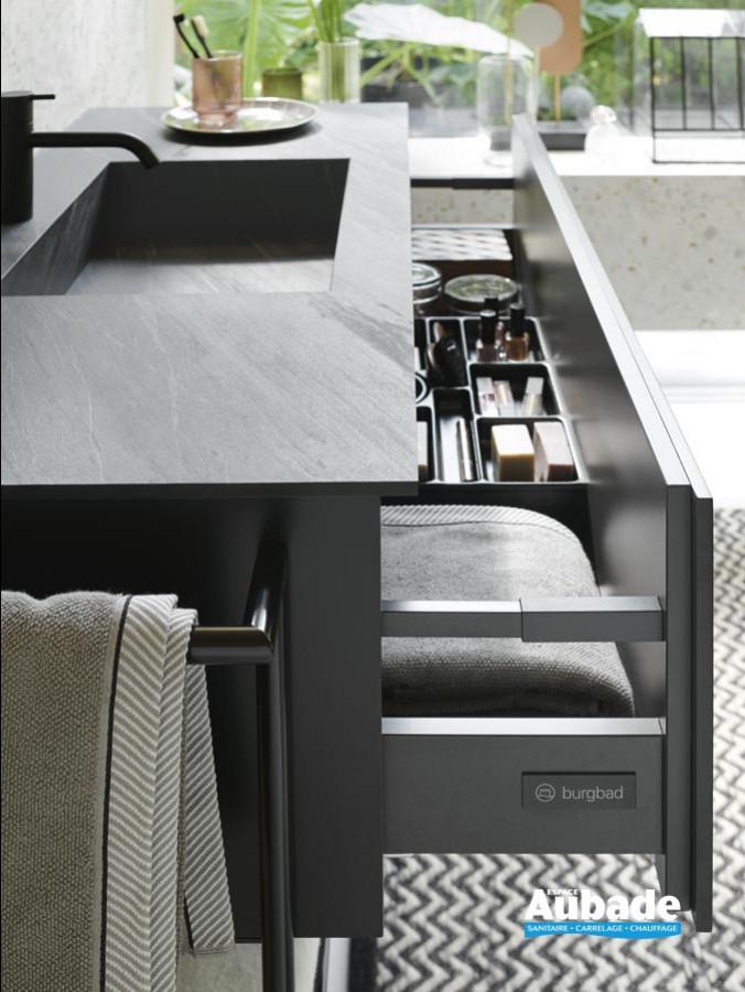 meuble salle de bain burgbad free coloris marbre noir