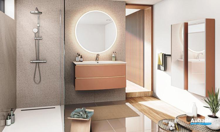 meuble salle de bain decotec bel ami 2 tiroirs terracotta