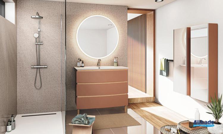 meuble salle de bain decotec bel ami 3 tiroirs terracotta