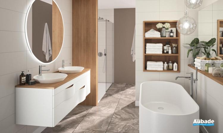 meuble salle de bain decotec illusion blanc mat