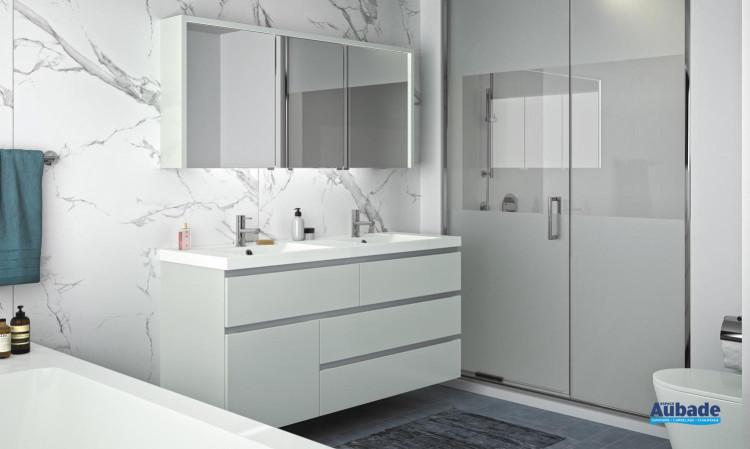 meuble salle de bain decotec rivoli laque fjord mat