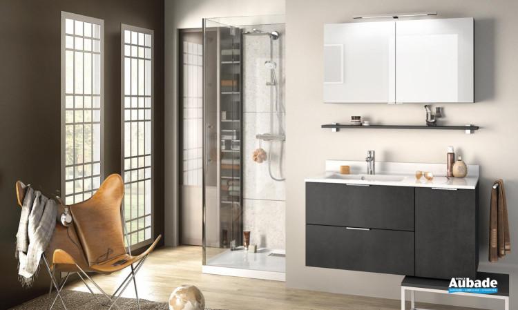 meuble salle de bain delpha delphy evolution105 beton anthracite