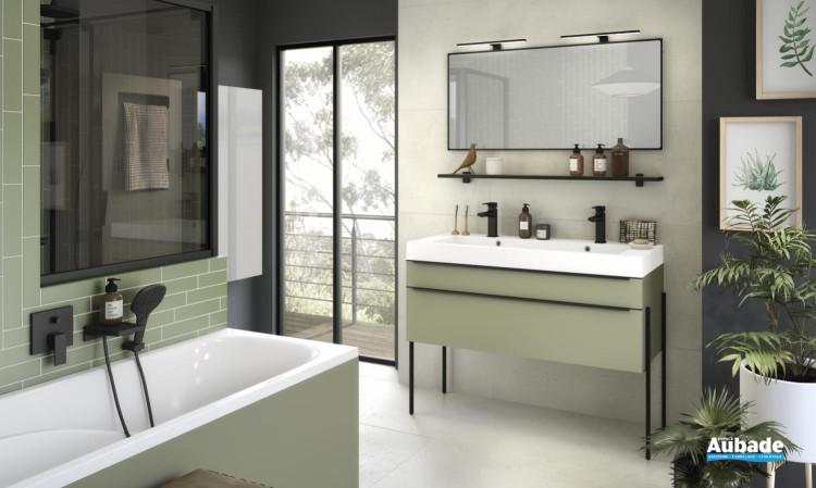 meuble salle de bain delphy inspiration120 vert olive mat de Delpha