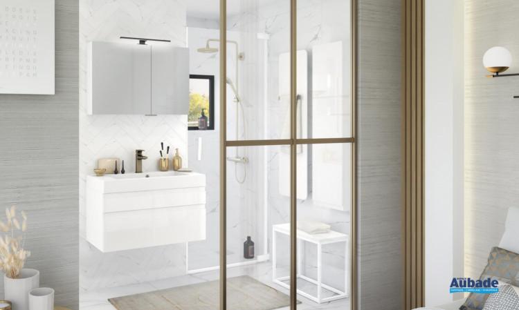 meuble salle de bain delphy inspiration80 capture blanc brillant de Delpha
