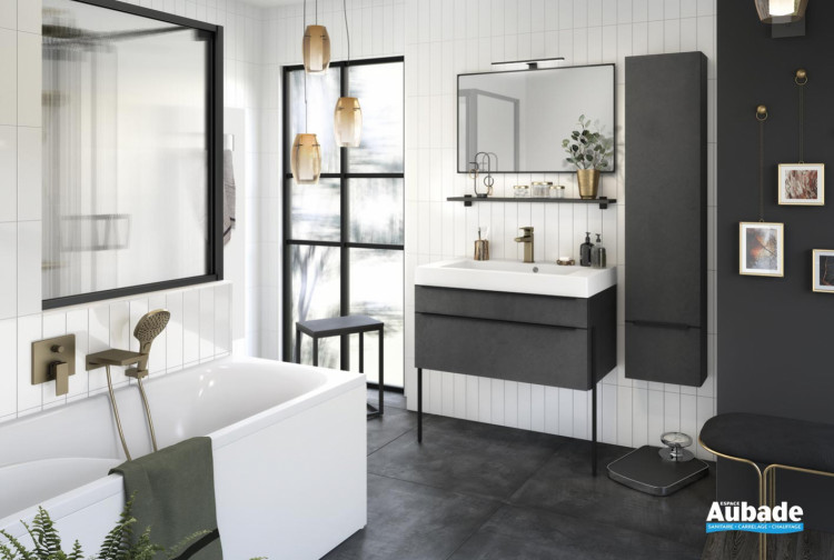 meuble salle de bain delpha delphy inspiration90 beton anthracite