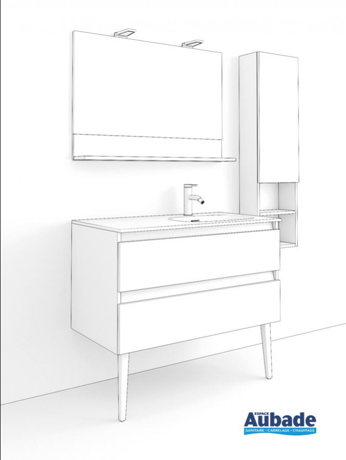 meuble salle de bains delphy intuitive 100 de Delpha