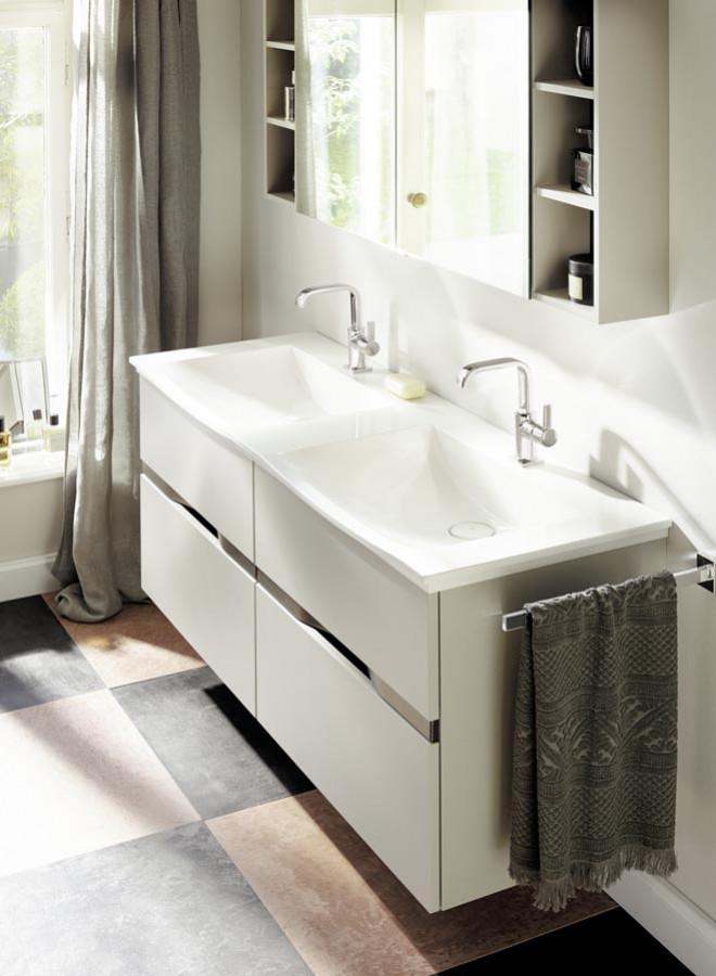 Meuble de salle de bains Orell Gris Basalte mat de Burgbad - Vasques