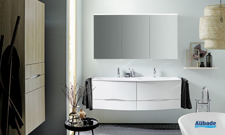 Meuble de salle de bains Sinéa 2.0 blanc mat de Burgbad