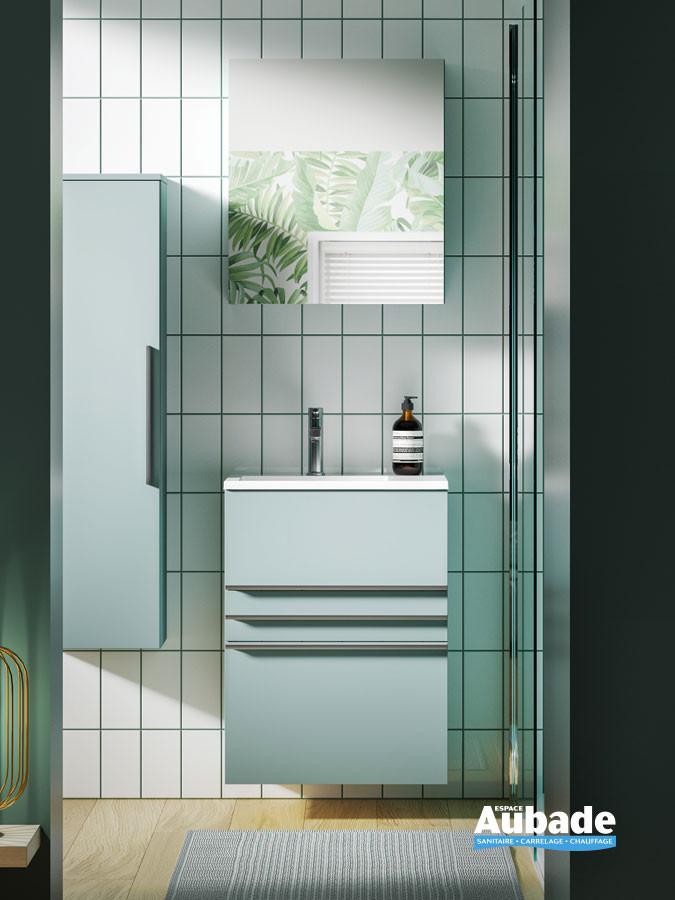 Meuble de salle de bain Filou coloris bleu baltique mat par Decotec