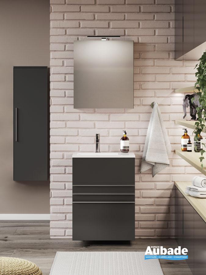 Meuble de salle de bain Filou coloris noir mat par Decotec