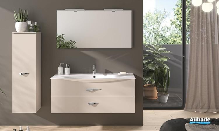 Meuble de salle de bain Flore coloris laqué poudre mat de Decotec