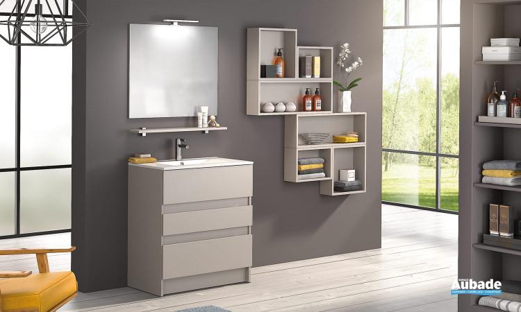 Meube salle de bains D Motion L 80 cm Delpha