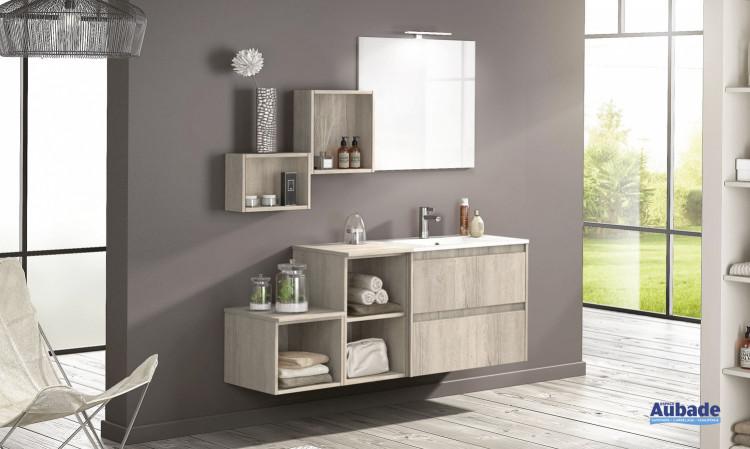 meuble salle de bains delpha d-motion affleurant largeur 160 chene nordique