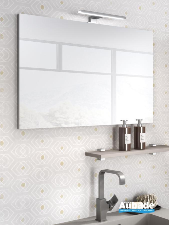 meuble salle de bains delpha d-motion affleurant largeur 90 argile mat