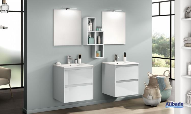 meuble salle de bains delpha d-motion affleurant originale largeur 60x2 gris nuage brillant