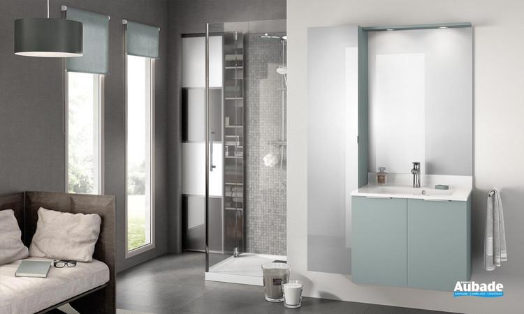 Meuble de salle de bains Evolution 70 Alba Vert Aloé Mat de Delpha 1