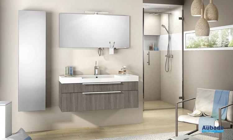 Meuble de salle de bains Inspiration 120 Chêne Havana de Delpha 1