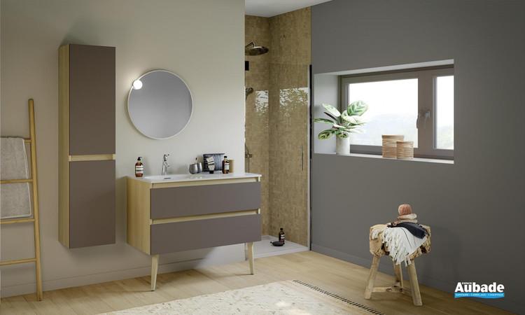 Meuble de salle de bains Intuitive 100 Moka de Delpha 1