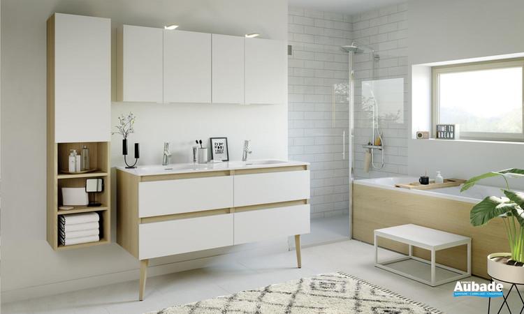 Meuble de salle de bains Intuitive 140 Blanc Ultra Mat de Delpha 1