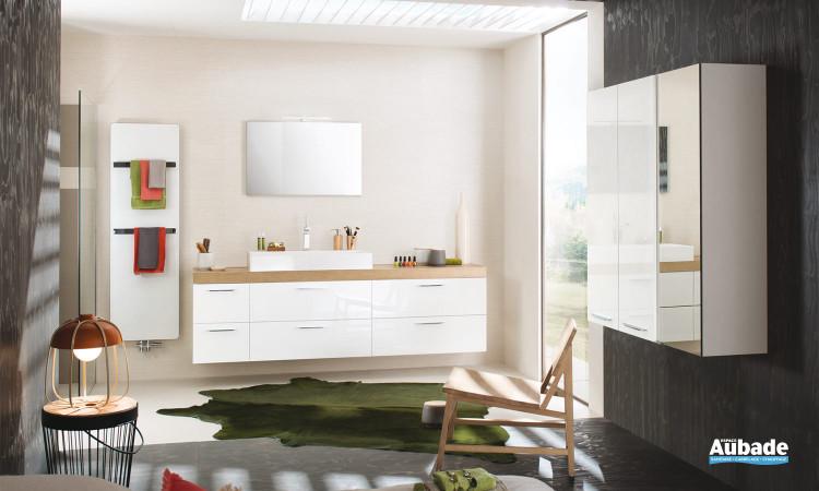 Meuble de salle de bains Unique Laque Glossy Delpha