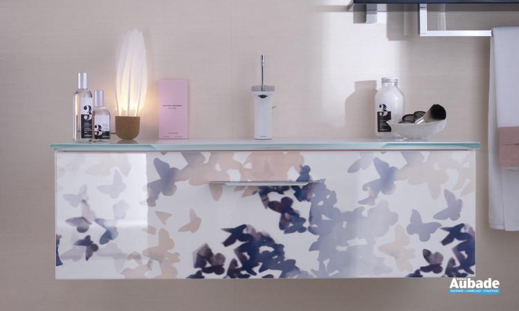 Façade colorée du meuble de salle d'eau Unique Impression Envol de Delpha