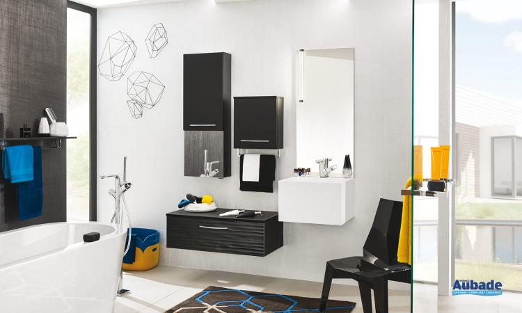 Meuble de salle de bains Unique laque Relief et Soft Delpha