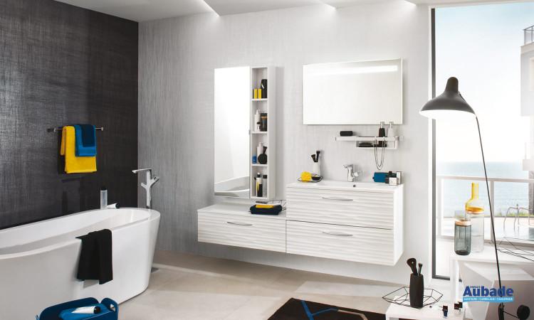 Meuble salle de bains Unique laque Relief de Delpha